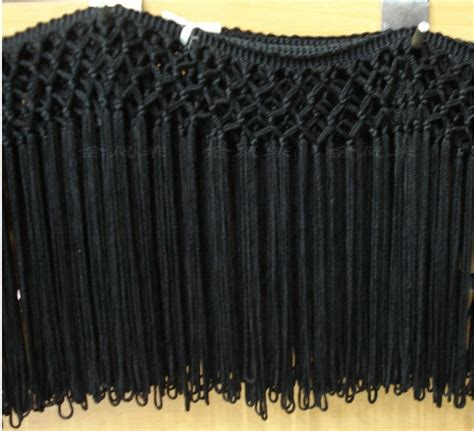 long curtain fringe 15cm long black rayon handmade classical net tassel fringe