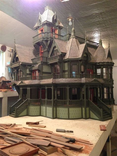 dollhouse carson mansion  scale stickbuilt