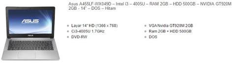 Laptop Asus A455lf Series harga laptop asus i3 vga nvidia terbaru