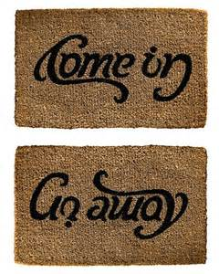 welcome mats welcome mat or goodbye for the home pinterest welcome mats door mats and doormats