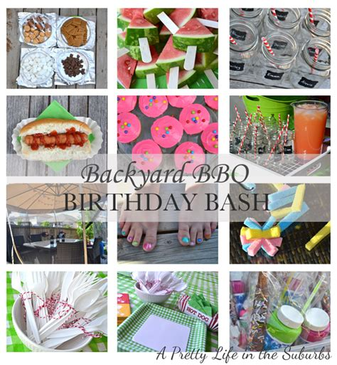 Backyard Ideas For 10 Year Olds Backyard Bbq Birthday Bash A Pretty In The Suburbs