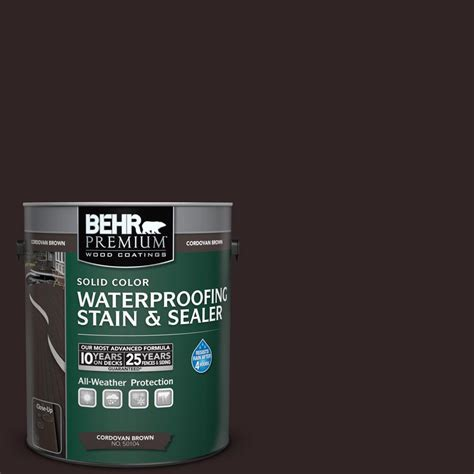 behr premium  gal sc  cordovan brown solid color