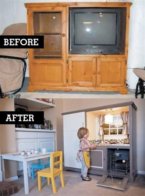 tv cabinet made into play kitchen best diy play kitchen so easy to do the cabinets are