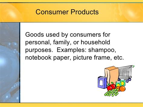 Consumer Products Definition Industry Mba by M9 L3 Classification Of Products Services