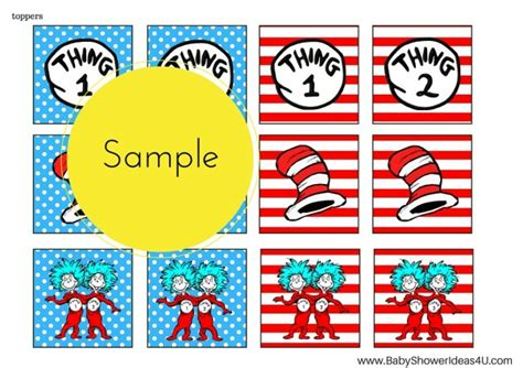 Free Dr Seuss Thing 1 Thing 2 Twins Party Printable Birthday Party Ideas Themes Thing 1 Editable Template