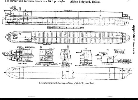 canal boat line drawing canal barge drawing