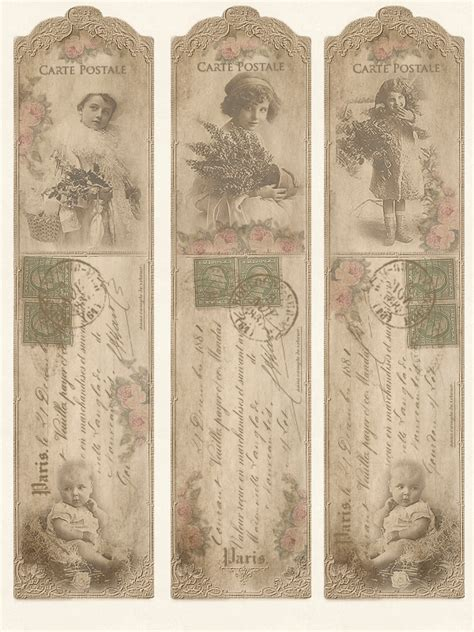 printable victorian bookmarks 7 best images of free printable vintage bookmarks free