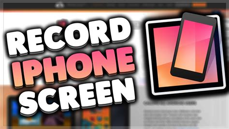 how to record your iphone screen on windows record ios
