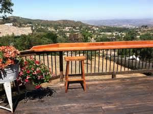 Deck Railing Bar Top by Turned Deck Railing Into A Bar Deck Ideas