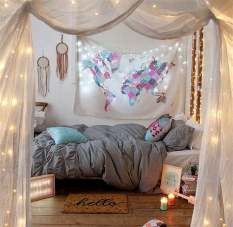 bedroom with lighted canopy tumblr bedroom canopy twinkle dream catcher bedroom tumblr
