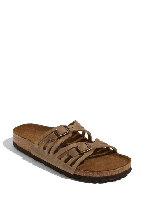 birkenstock granada sandals birkenstock granada soft footbed leather sandal in