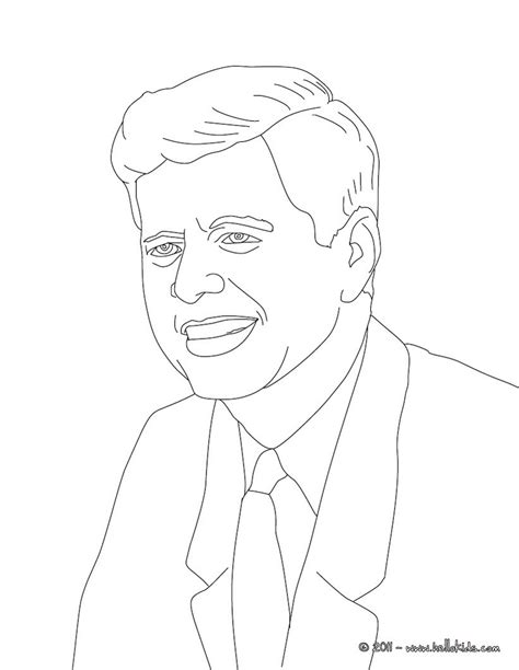 Jfk Portrait Coloring Pages Template Jfk