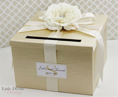 Wedding Box Bridal by Wedding Card Box Chagne Gold Ivory Money Holder
