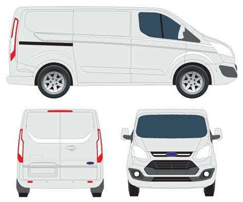 Transit Custom Tourneo Vector Image 123freevectors Ford Transit Vector Template