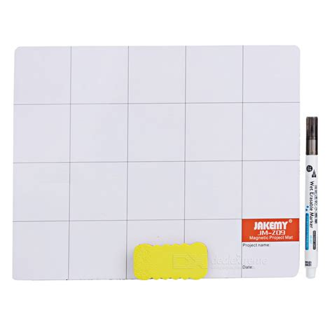 Jakemy Magnetic Mat Pad With Erasable Marking Pen Brush Jm Z09 jakemy jm z09 magnetic work mat pad w erasable marking pen brush for repair work white