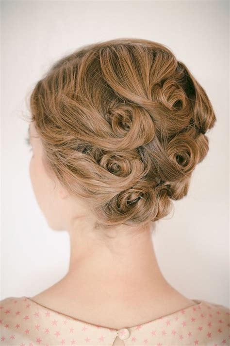 1950s hairstyles pin curls best 25 pin curl updo ideas on pinterest retro updo