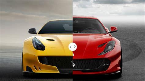Ferrari 812 Superfast Youtube by Ferrari F12tdf Vs Ferrari 812 Superfast Youtube
