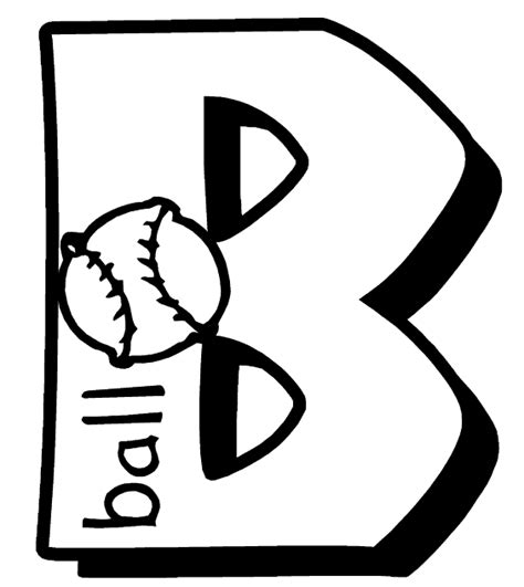 Coloring Page Letter B by Letter B Coloring Page