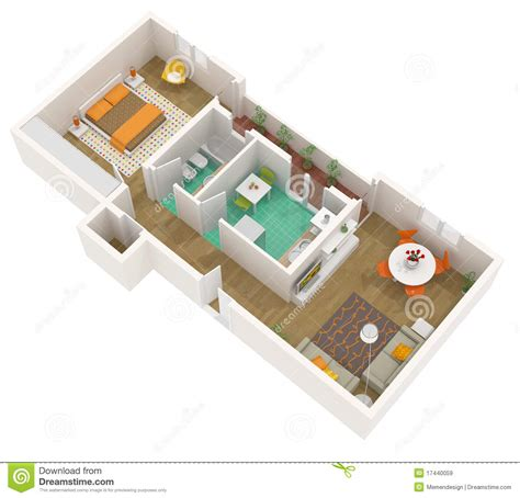 3d floor plans free 3d floor plan apartment royalty free stock images