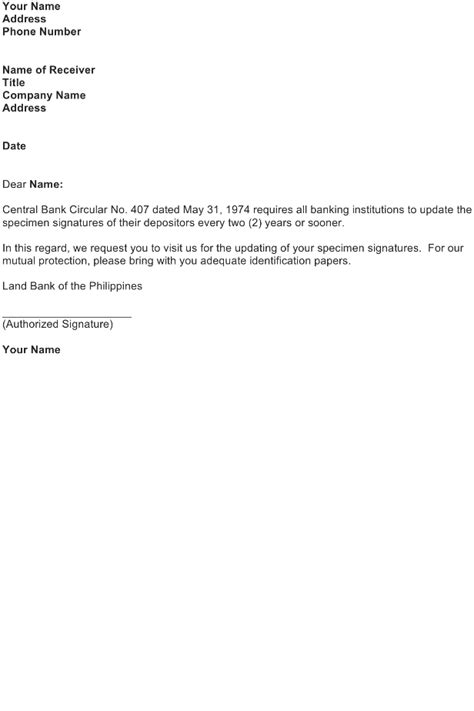 Bank Notification Letter Sle Notice Letter From Bank