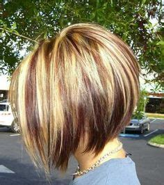 womans haircut foils razor cut concave bob golden blonde base with lightest