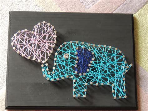 String Elephant - diy elephant crafts