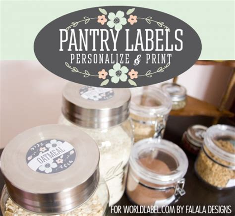 labels for organizing your pantry spice jars