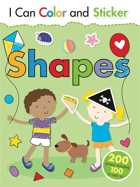 color stickers i can color and sticker shapes book by gemma cooper