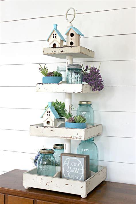 easy decorating idea tiered tray decor
