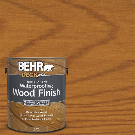 upc  clear weatherproofing stains behr