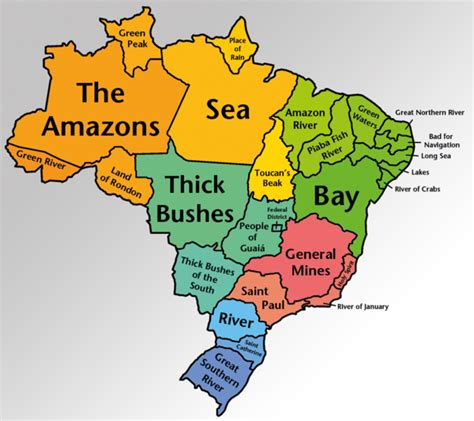 map of brazil states states by the literal meaning of their name