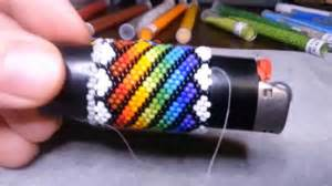 beading lighter cover freestyle repeating design