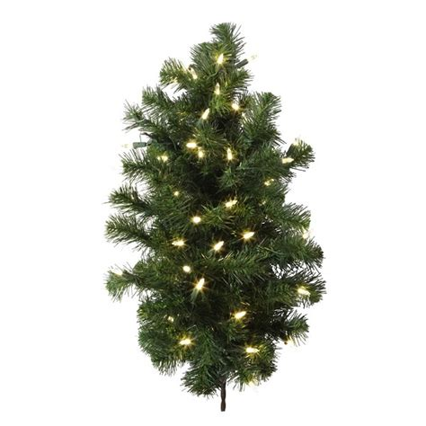 2 ft douglas fir half wall tree vickerman a808892led