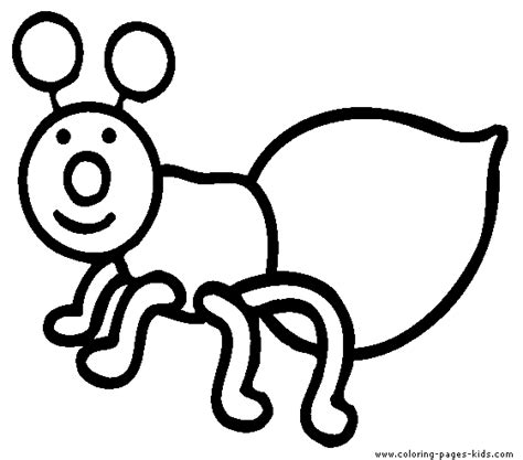 Easy Bug Coloring Pages | simple bug color page