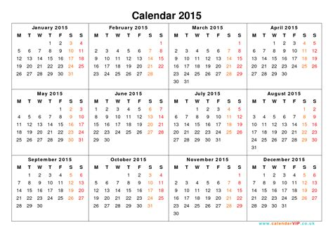 yearly calendar calendar 2015 uk free yearly calendar templates for uk
