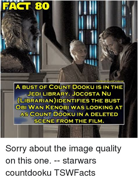 Count Dooku Meme - fact 80 thestarwarsfanbase a bust of count dooku is in the