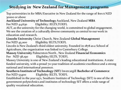 Of Auckland Mba Fees by Study Abroad