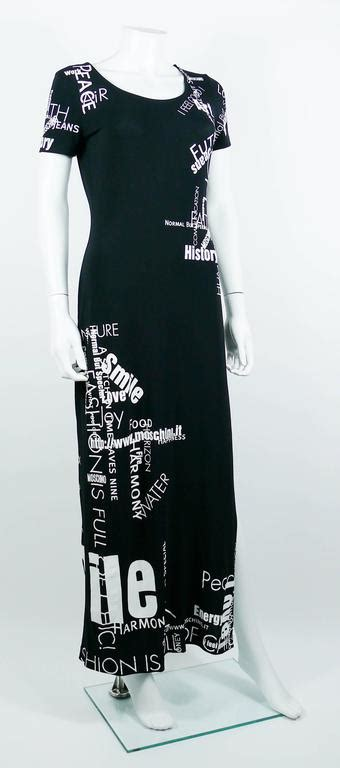60720 Moschino Maxy Spandek moschino vintage all text black maxi dress usa size 10 for sale at 1stdibs