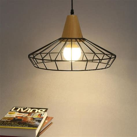 Wooden Ceiling Light Shades Modern Vintage Wood Metal Cage Chandelier Ceiling Pendant Light Shade Fixture Ebay