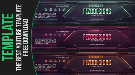 best yutub the best youtube banner template fezodesigns free