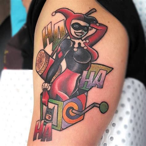 harley quinn pin up tattoo 60 harley quinn ideas bring out your