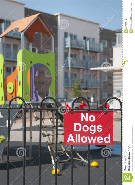 Apartment With Dogs Allowed No Dogs Allowed Stock Photo Image 32269940