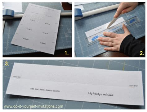how do i make wedding place cards wedding invitation templates create easy diy invites