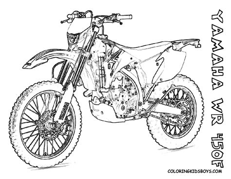 Fierce Rider Dirt Bike Coloring Dirtbikes Free Motocross Coloring Pages