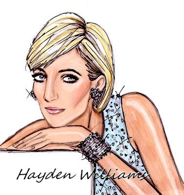 Drawing 7 Bme by Hayden Williams Fashion Illustrations Princess Diana 15th