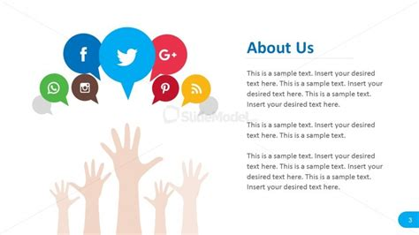 free social media powerpoint template social media about us report template slidemodel