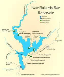 new bullards bar reservoir map