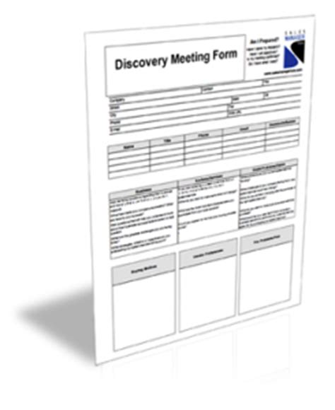 Discovery Meeting Form Sales Manager Now Discovery Template