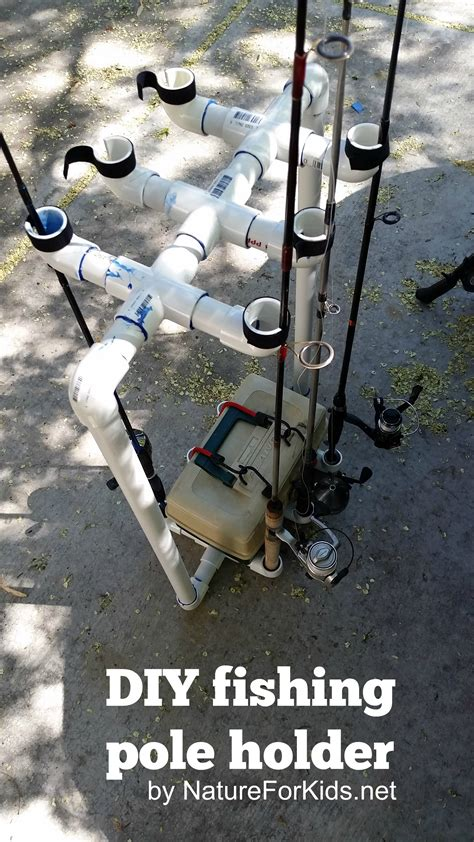 diy fishing rod holder diy fishing pole holder nature for