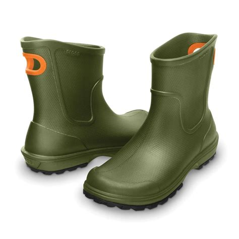 crocs boots mens crocs mens wellie boot army green mid height